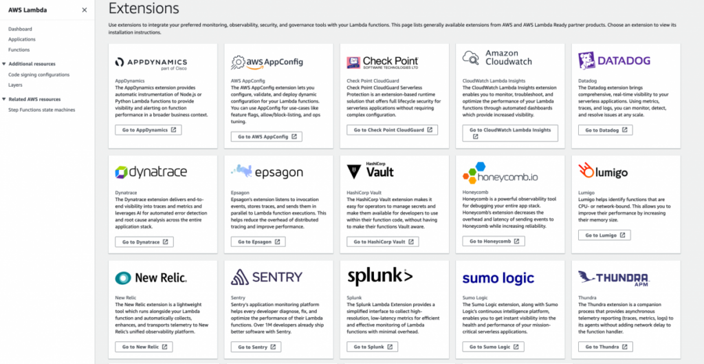 Getting Started with Your Favorite Operational Tools on AWS Lambda – Extensions Are Now Generally Available